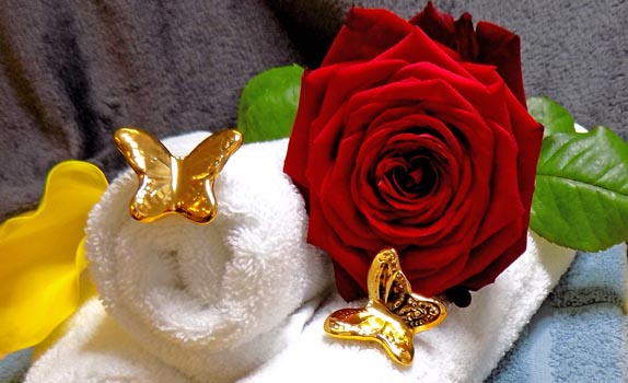 Laserbehandlung Rose Schmetterling
